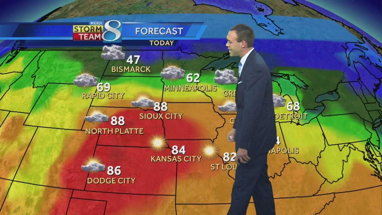 KCCI 8 forecaster Frank Scaglione's forecast for Iowa.
