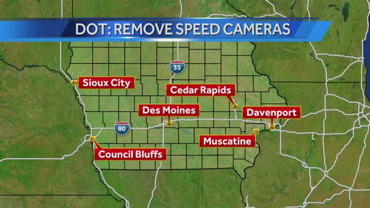 DOT officials want to remove cameras at ten locations out of 34 locations total throughout the state.