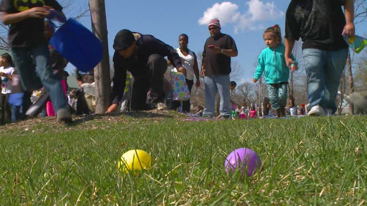 A Des Moines advocacy group held an Easter egg hunt Saturday with a twist.