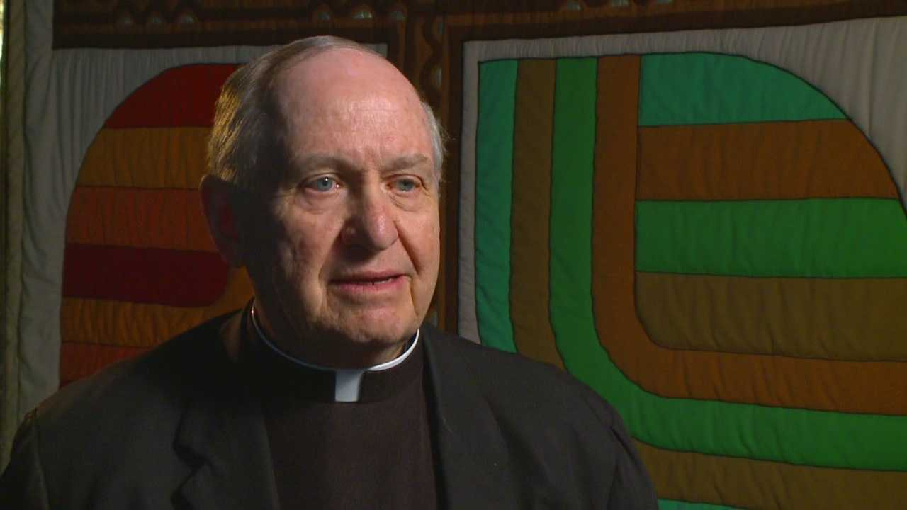 Bishop Richard Pates comments on Dowling's decision to deny a man a full-time teaching job.