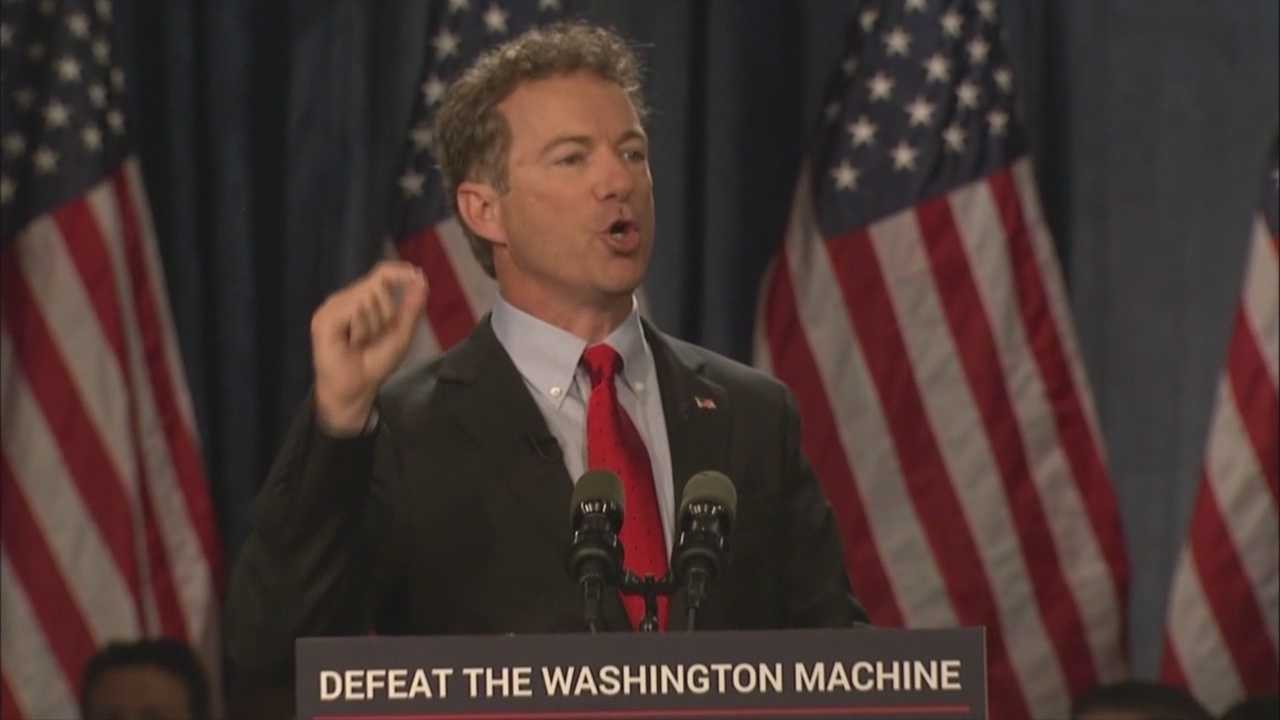 Sen. Rand Paul announced his candidacy Tuesday and is planning a trip to the University of Iowa Friday.