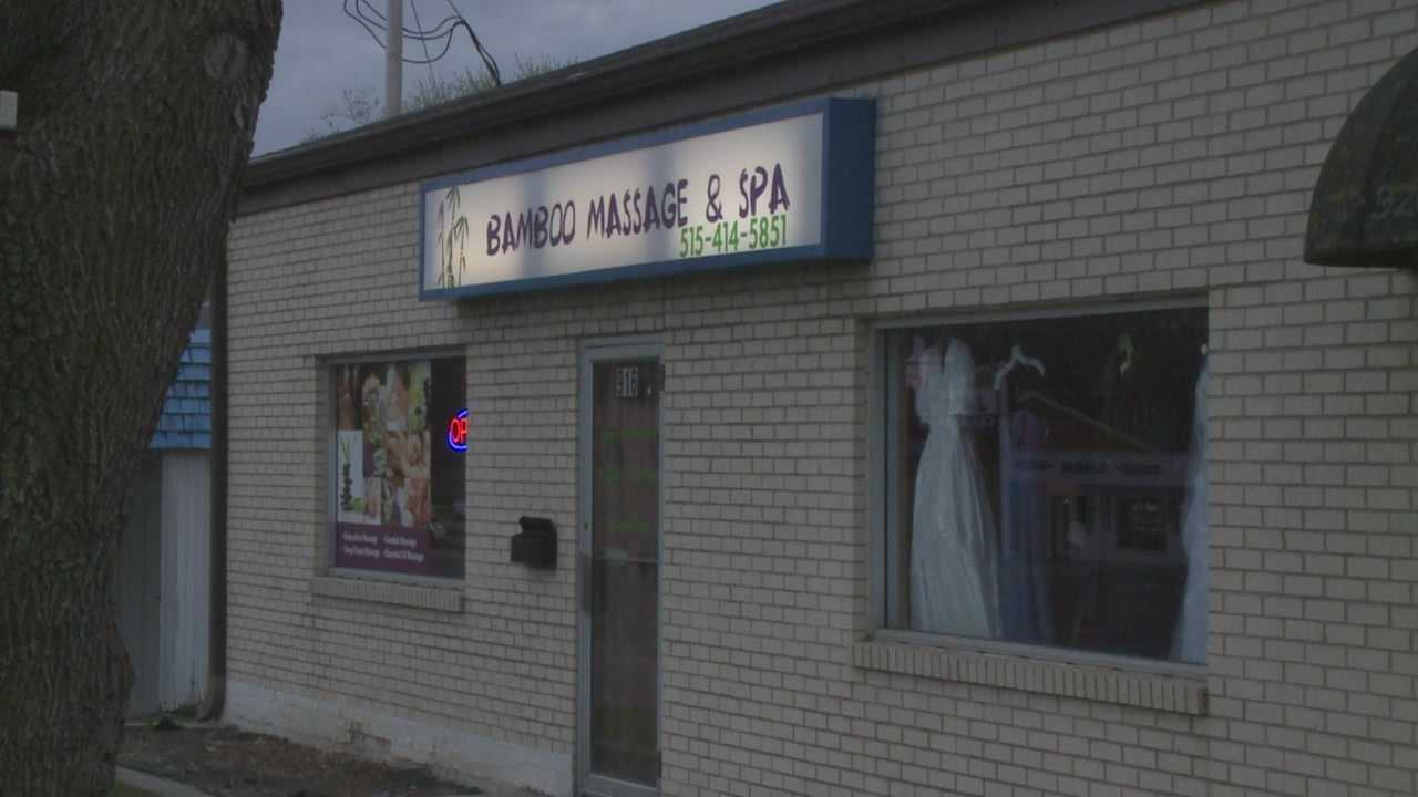Fire officials said they believe women working at a local massage parlor are living inside the business.