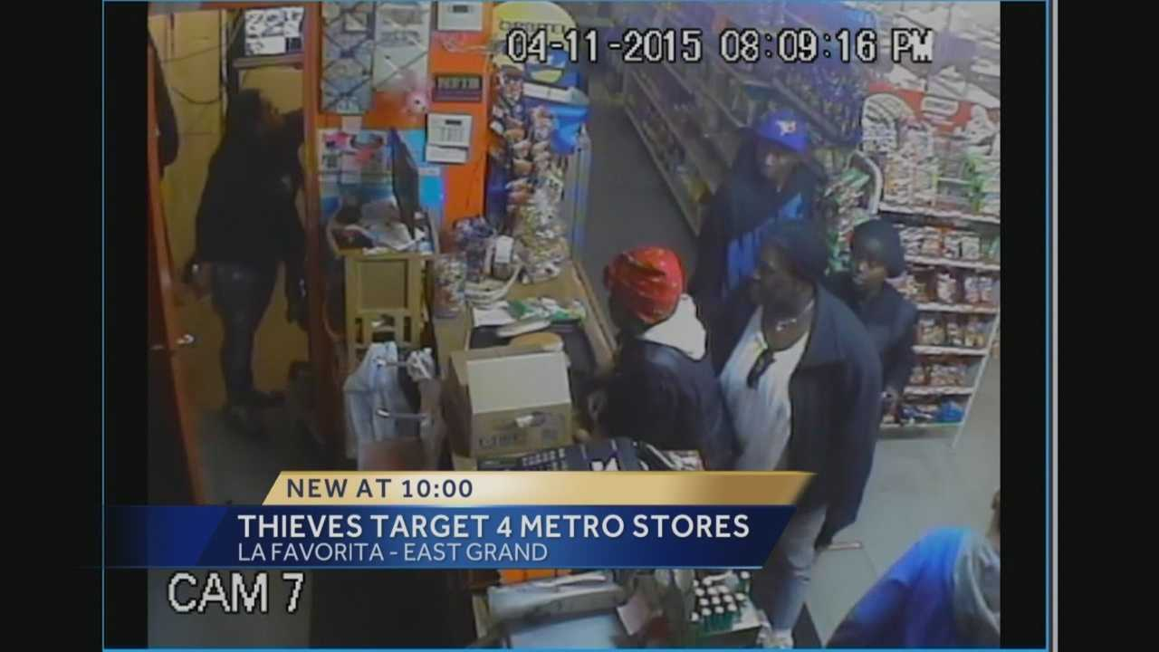New surveillance video shows a robbery at a Des Moines business.