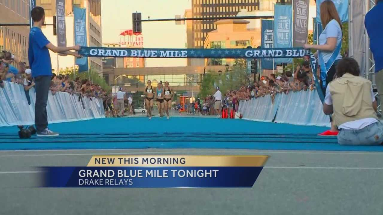 The streets downtown will be blocked off tonight, as thousands of runners kick off the Drake Relays.