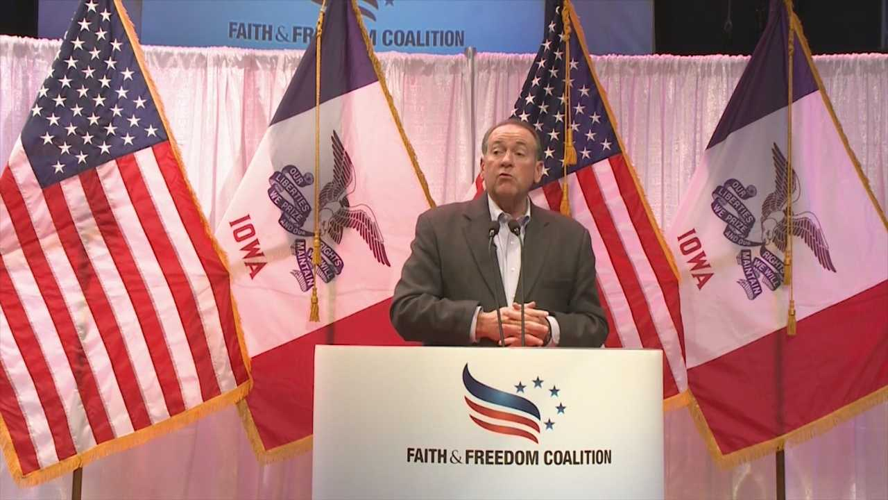 Nine major GOP presidential hopefuls received tons of enthusiasm from Iowans in the audience at the Iowa Faith & Freedom Coalition Spring Kick-Off event in Waukee.