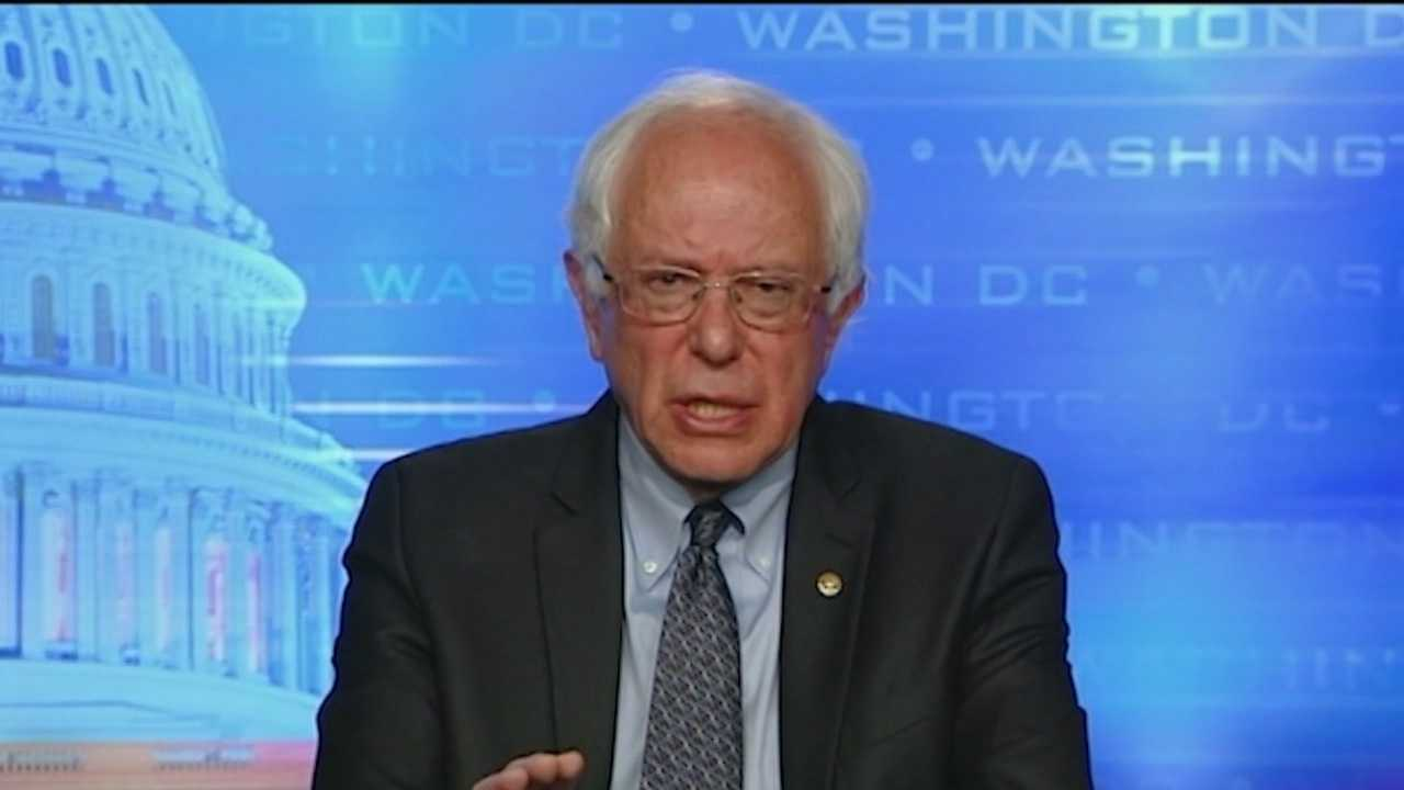 Sen. Bernie Sanders says his No. 1 issue is the role of money in Washington.