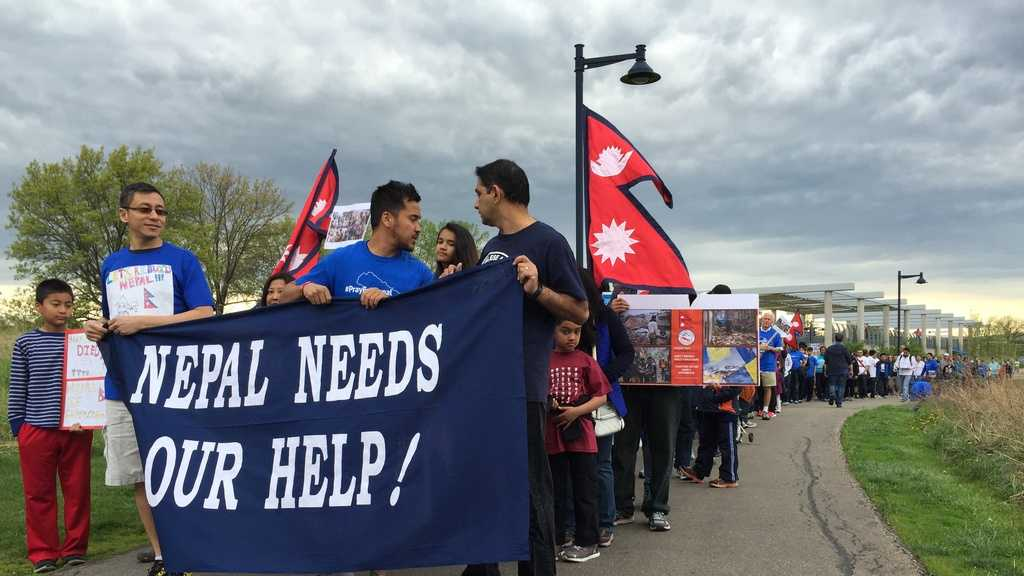 Hundreds of Nepalese in Iowa walked Saturday afternoon to raise awareness about the earthquake-caused devastation in Nepal.