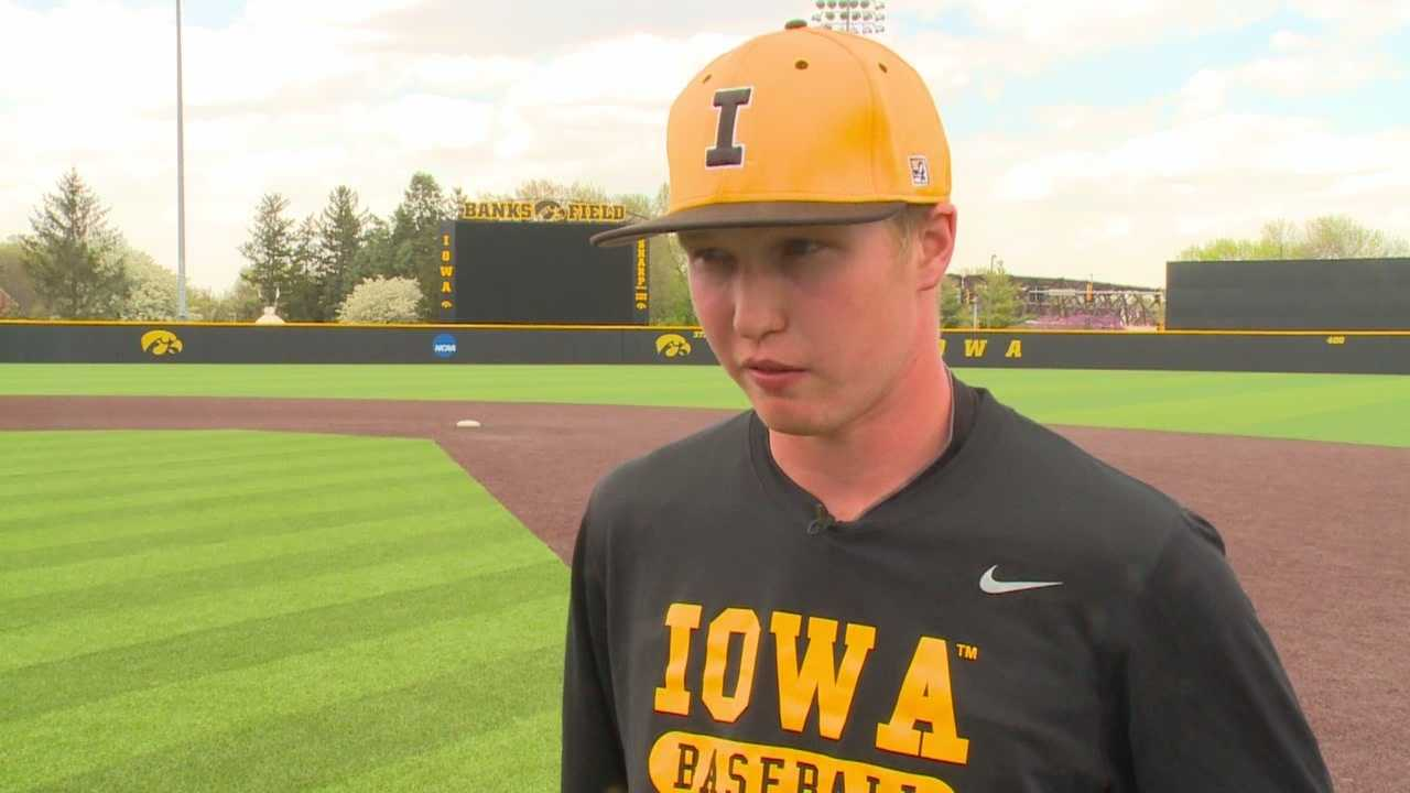 Tyler Peyton is having a monster year for the Iowa baseball team.