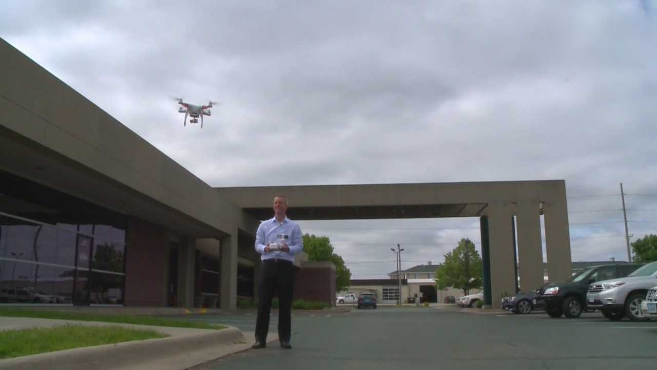 An Ames realty company is the first in Iowa that is authorized to legally fly drones for commercial use.