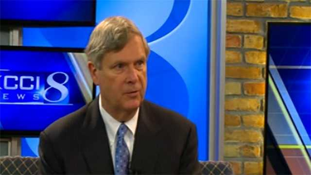 U.S. Secretary of Agriculture Tom Vilsack talks to KCCI about the bird flu outbreak.