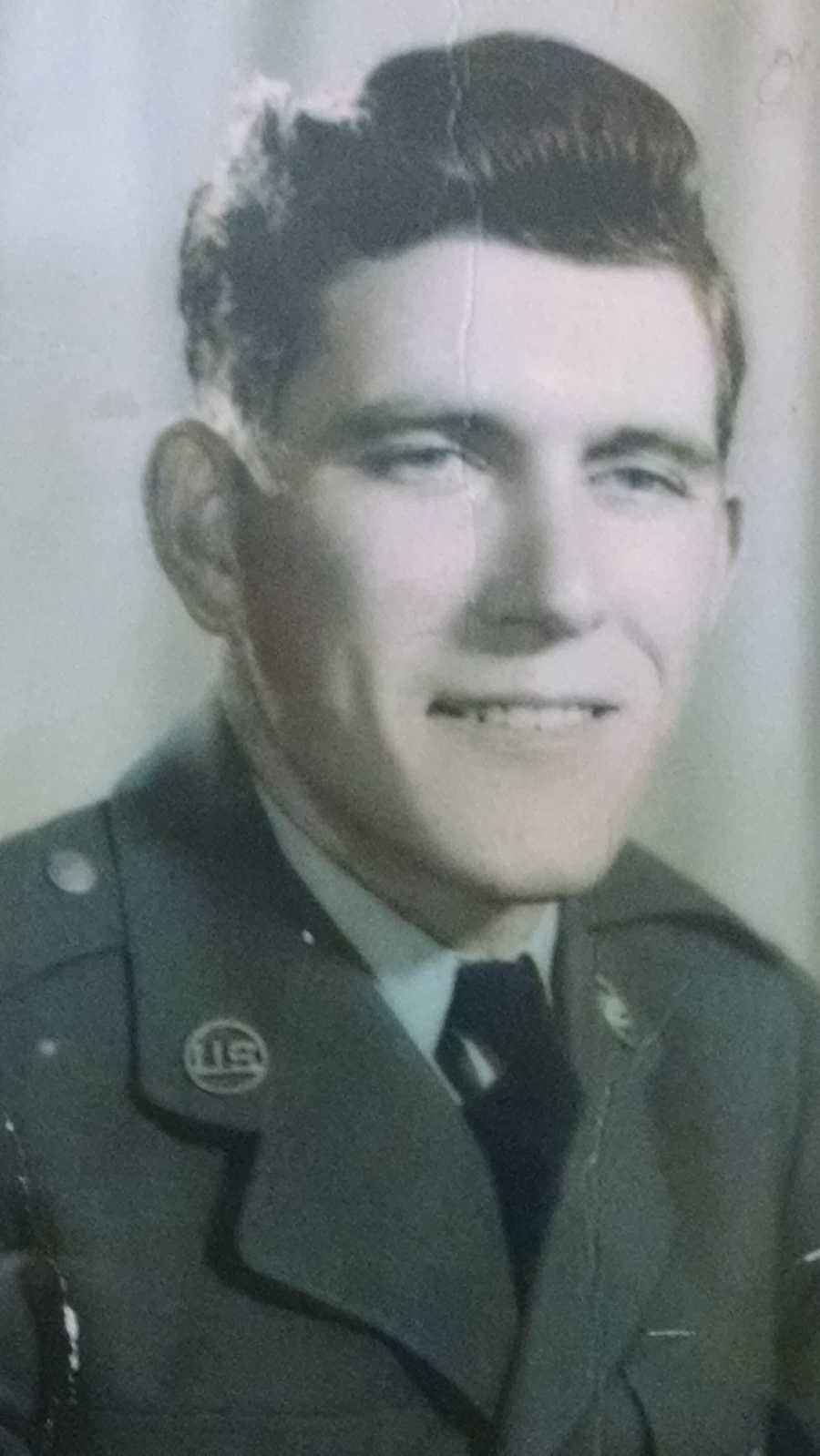 """Gilbert """"Smiley"""" Griffin from Webster City served in WWII."""