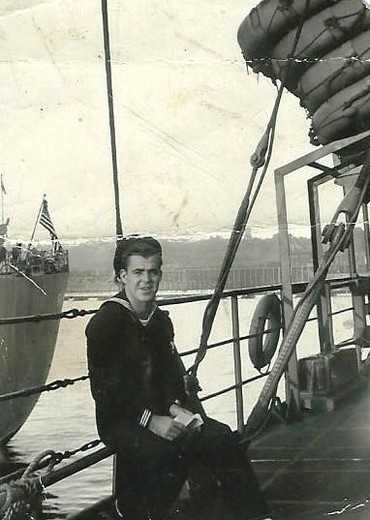 Ray Hickman served in WWI on the USS Barrow.