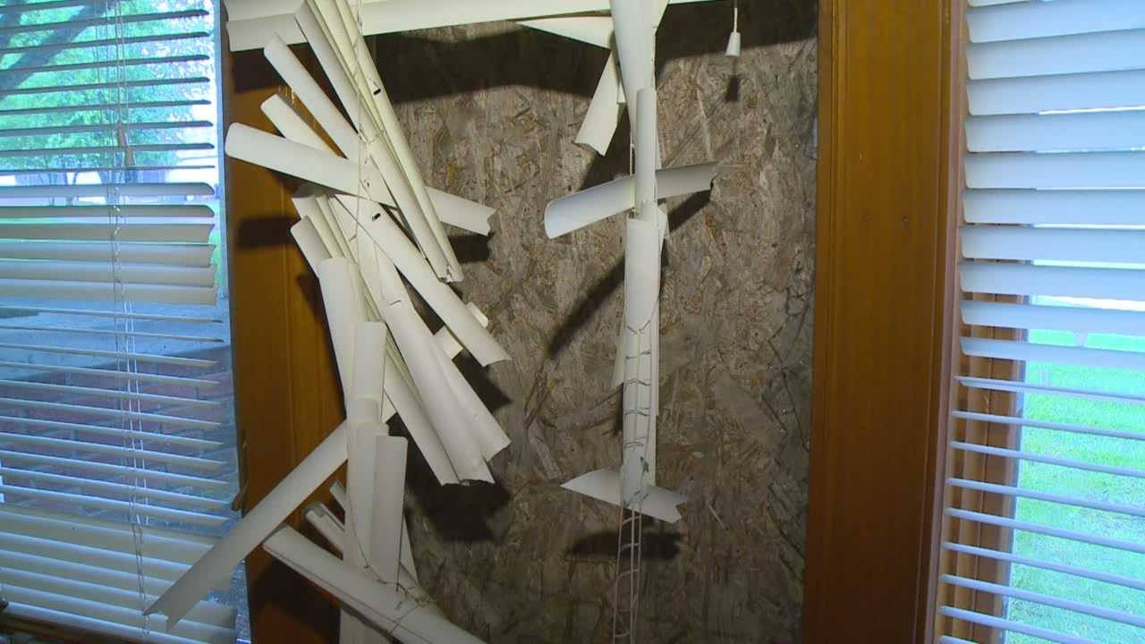 A deer smashed through the front window of an Indianola family's home Wednesday morning.