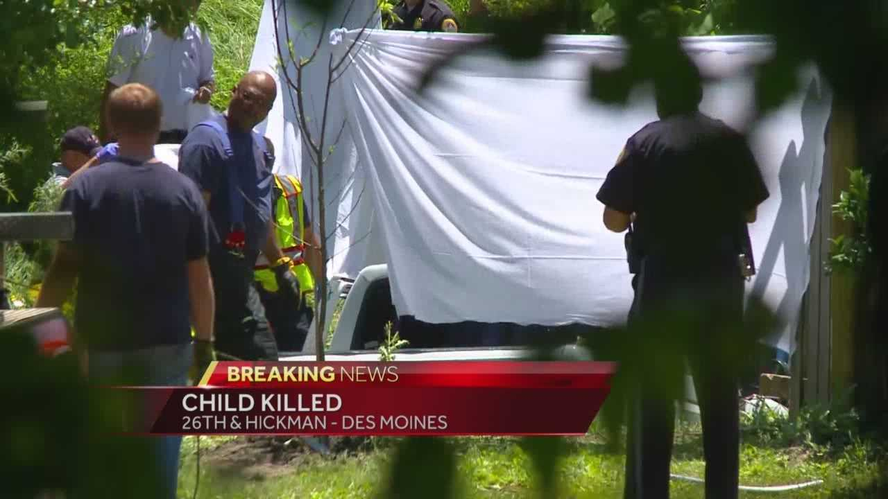 A 6-year-old was killed during a freak crash in a backyard in Des Moines.