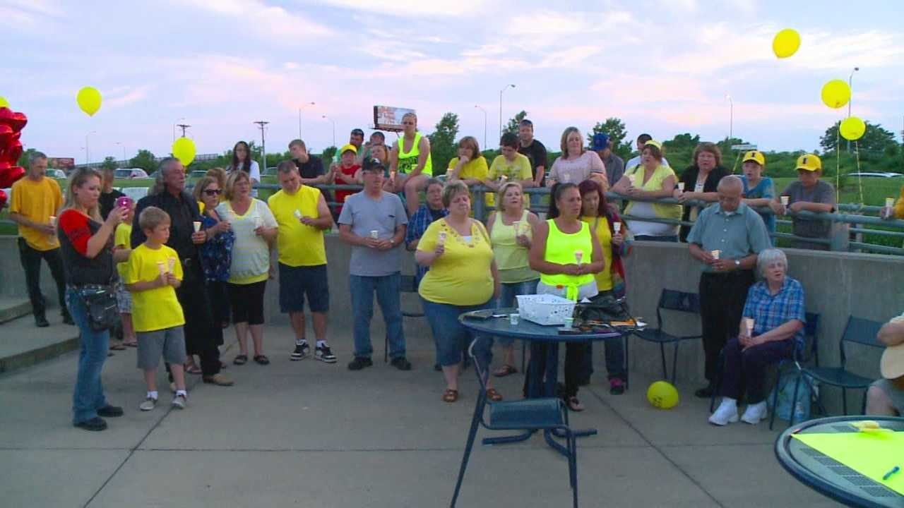 The family said they hoped the vigil makes the person responsible come forward.