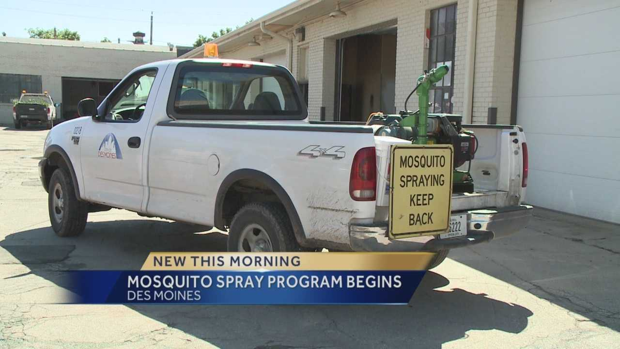 Des Moines crews are starting to spray mosquitoes.