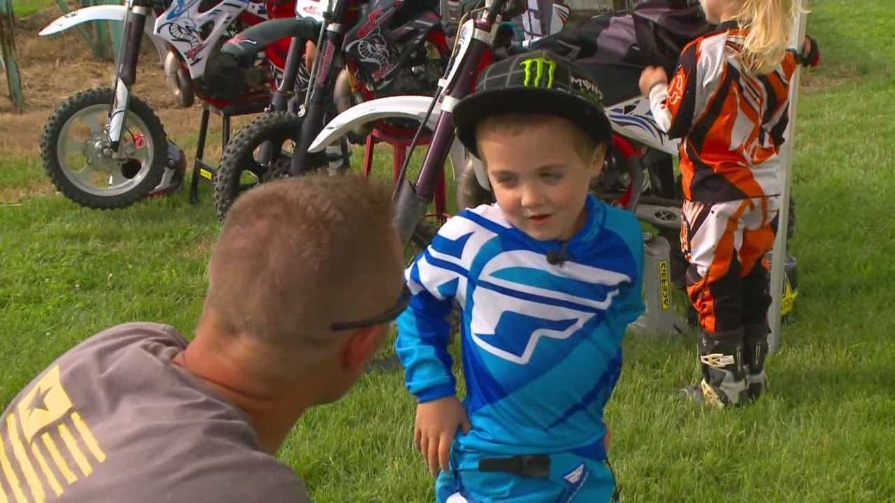 Police officers were able to get a 5-year-old back on a brand new dirt bike after his bike was stolen.