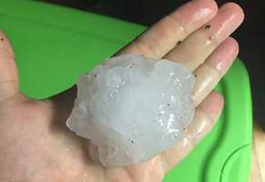 Hail near Guthrie Center