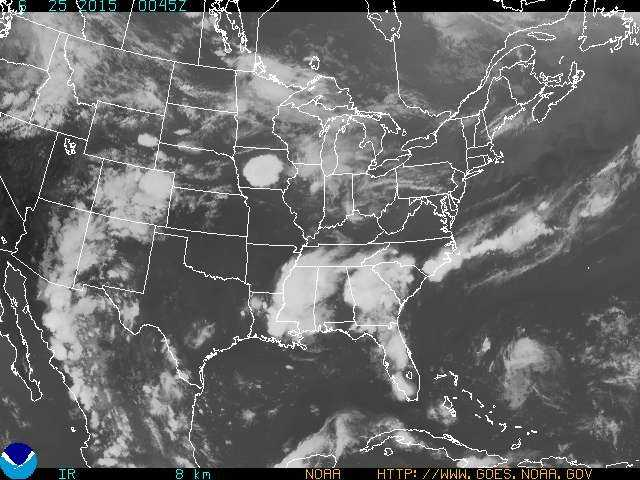 NOAA GOES visible satellite images about 8 pm
