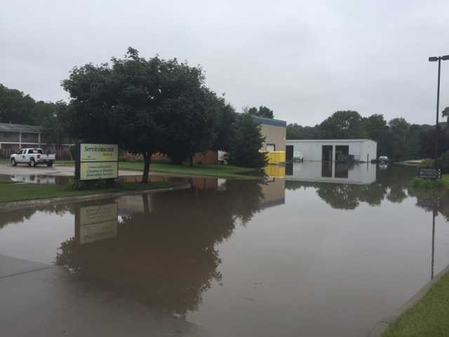 Servicemaster, a flood cleanup company, flooded in Clive.