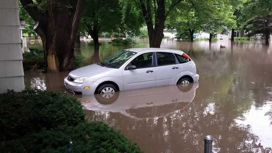 Flooding in Clive