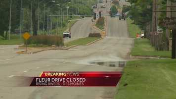 Fleur Drive in Des Moines is closed.