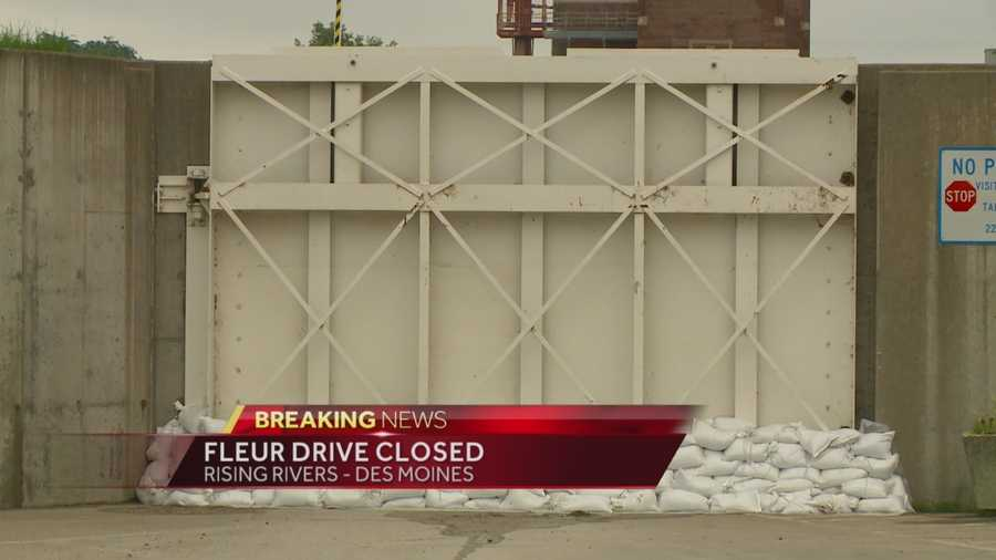 Water Works gates are now locked down to prevent flooding of the drinking water plant.