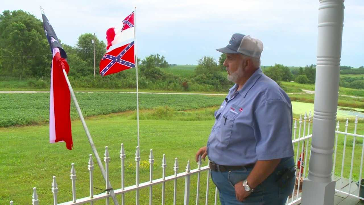 A confederate flag controversy is brewing in Iowa.