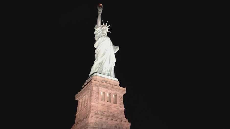 New iowa made lights shine at statue of liberty for Lights company