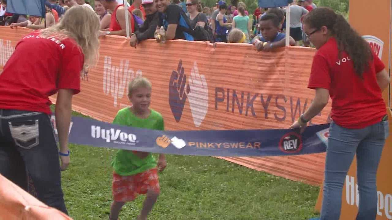 Organizers of the Pinky Swear Triathlon said the focus of Saturday's event is completely different than the former Hy-Vee triathlon.