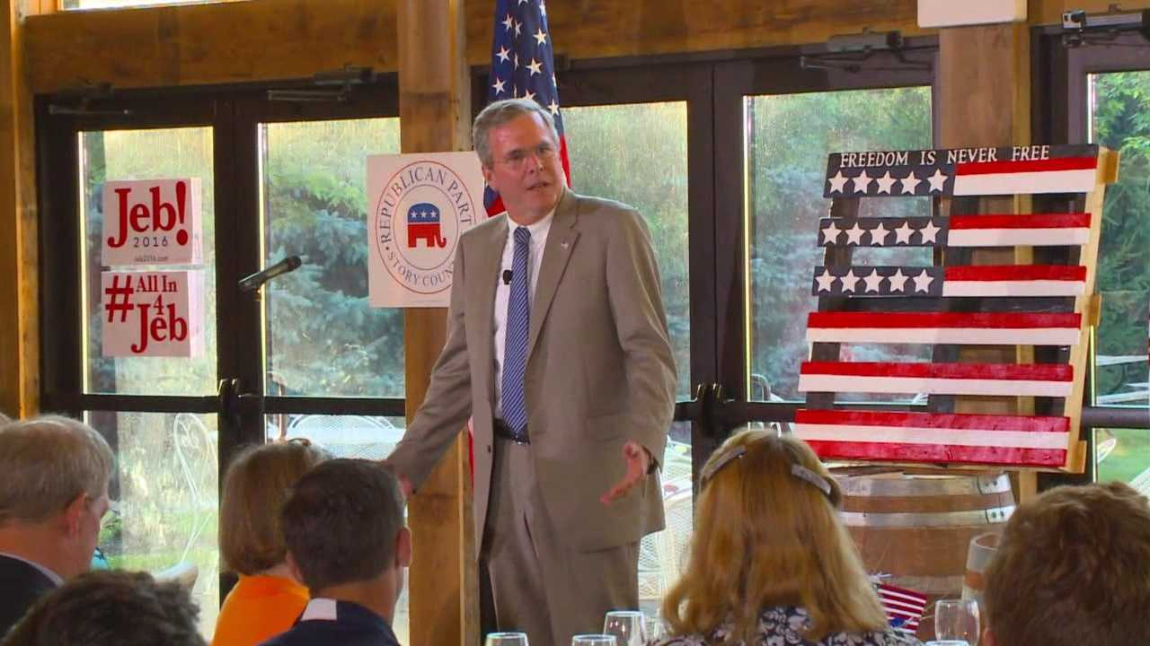 Jeb Bush is the fifth GOP presidential hopeful this year to speak at a Story County GOP event.