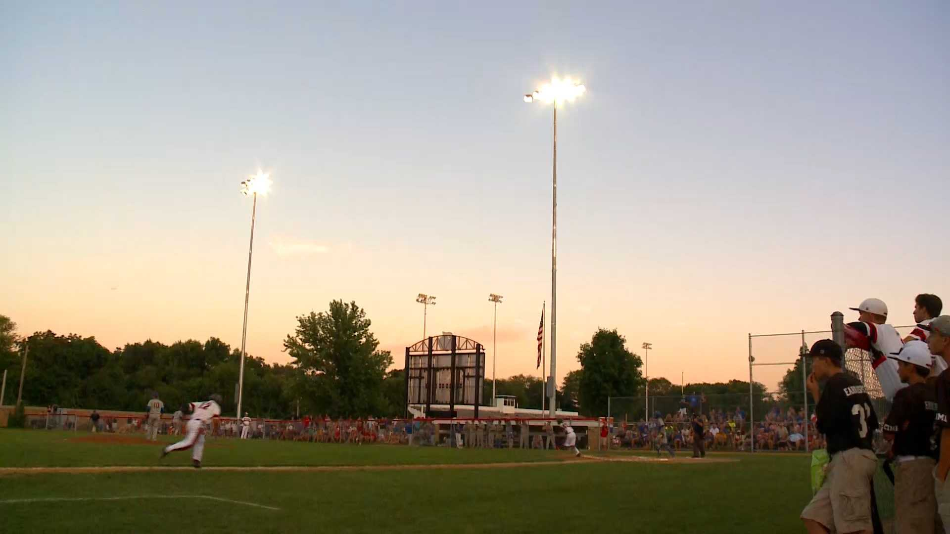 The Dodgers play under the lights at Ed McNeil Field for the first time on July 13, 2015