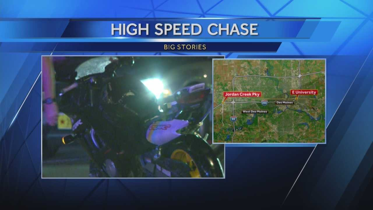A suspect was arrested overnight in a police chase in Des Moines.