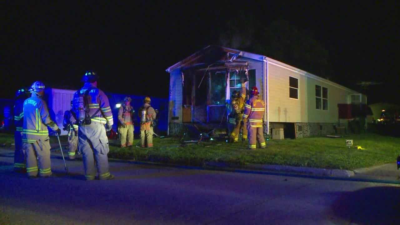 No injuries were reported in an overnight fire.