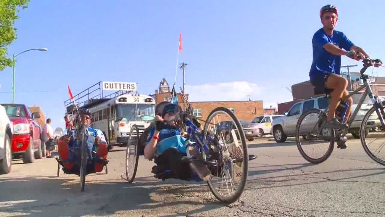 A few participants in the Register's Annual Great Bicycle Ride Across Iowa event proved they don't need their legs to keep up with the pack.