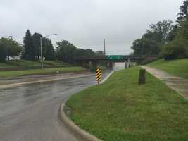Flooding on Grand Avenue in Ames about 1 p.m., about a foot of water on the roadway.