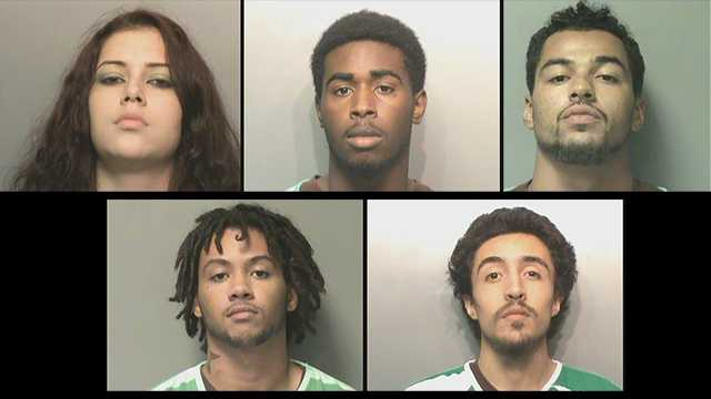 Five people arrested in iPhone theft case.
