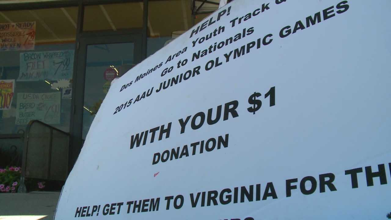 The Des Moines Area Youth Track Club is raising funds to compete in the AAU Junior Olympics held in Norfolk, Va.