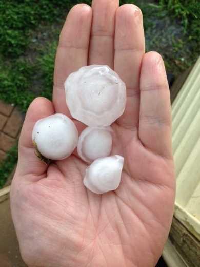 Hail in Monroe