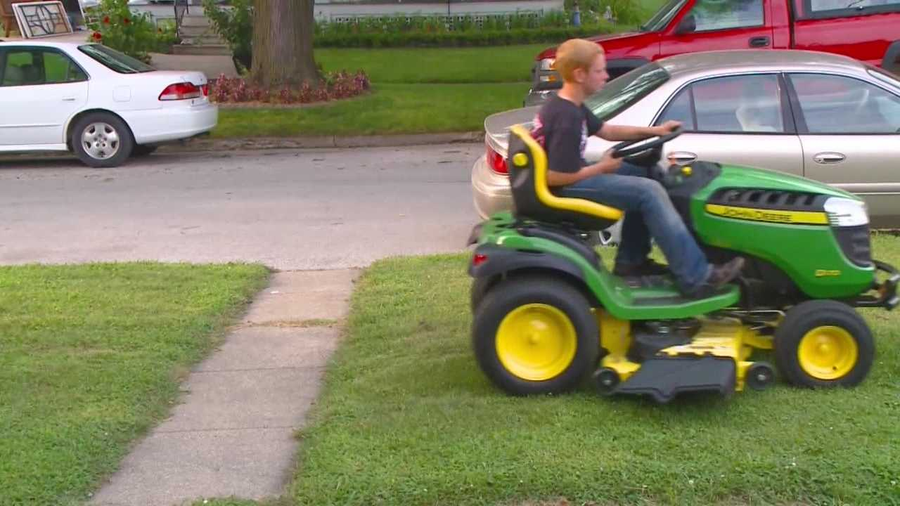 Carter Melton narrowly missed seeing his mowing dream come true.