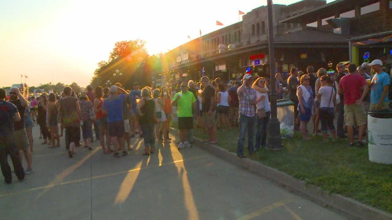 Thousands of people are crowding the Iowa State Fair Friday night to celebrate East Side night.