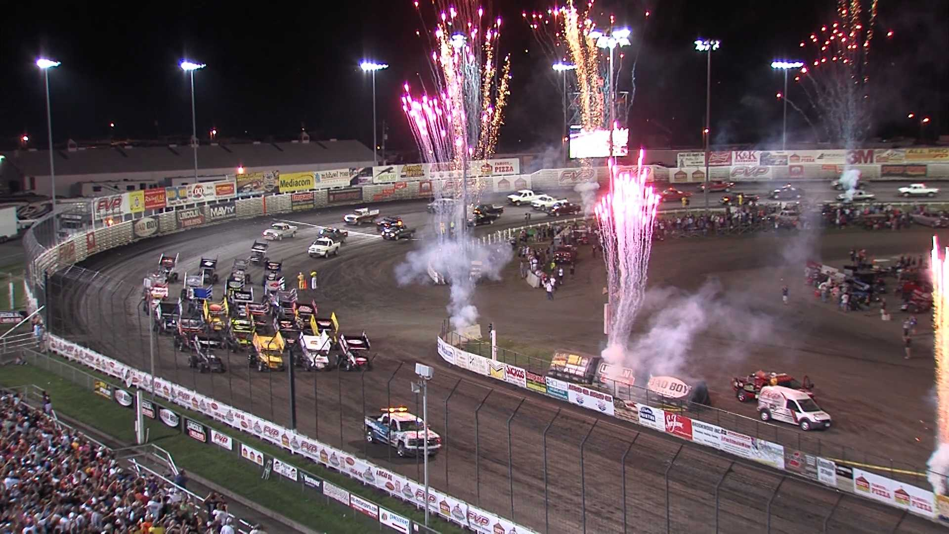 It was another grand spectacle Saturday night at the Knoxville Nationals.