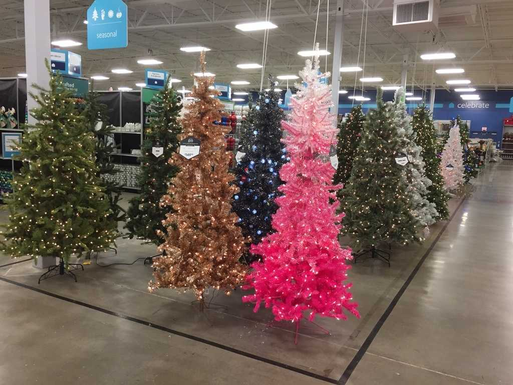 Christmas trees already up in metro store, too early?