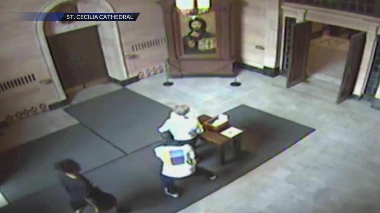 A 76-year-old woman is recovering after two men mugged her inside an Omaha church.