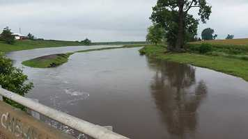 Flooding along Storm Creek that is north of Carroll, Iowa.