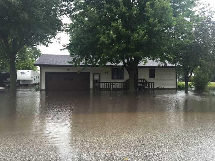 Flash flooding in Stratford, Iowa.