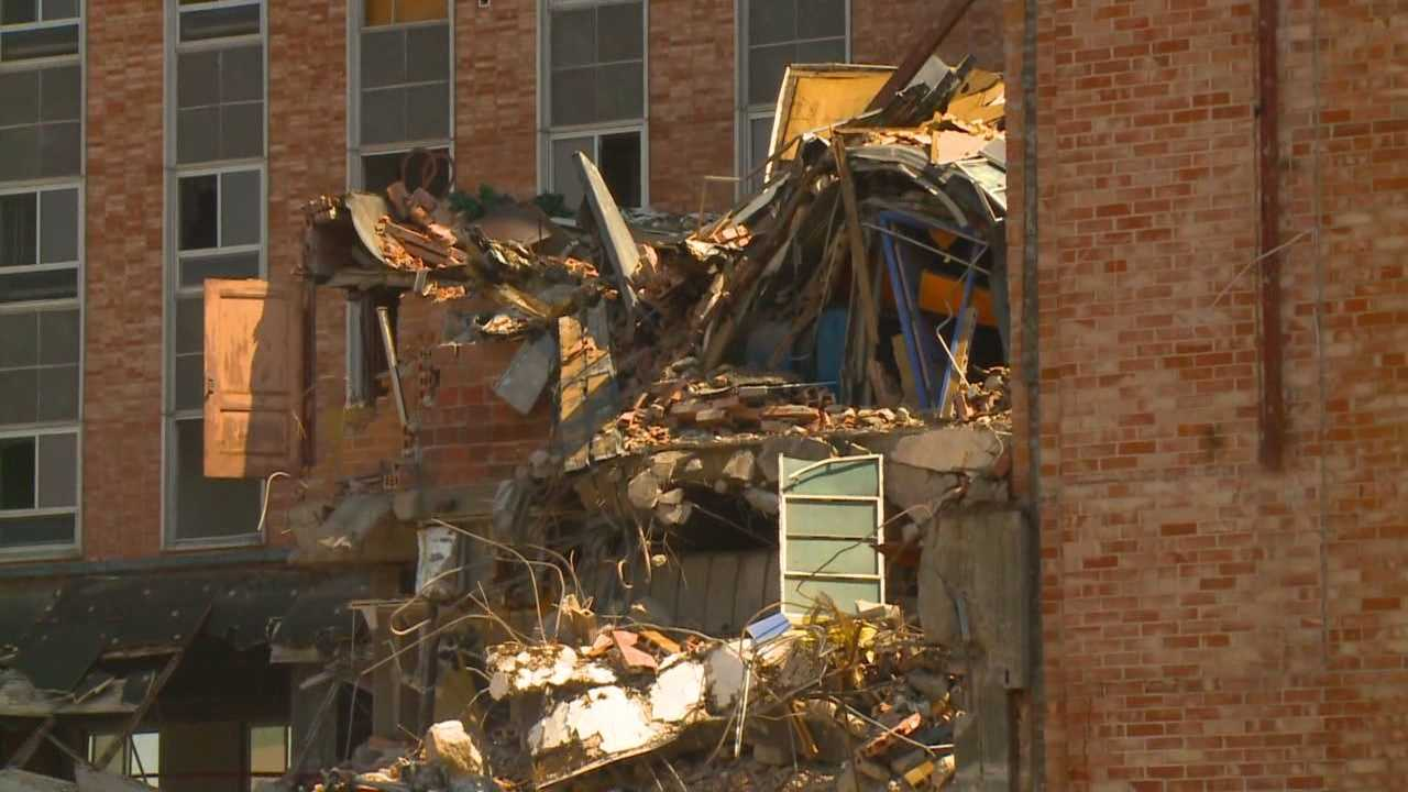 Onlookers told KCCI it's hard to watch the decades-old building slowly disappear.