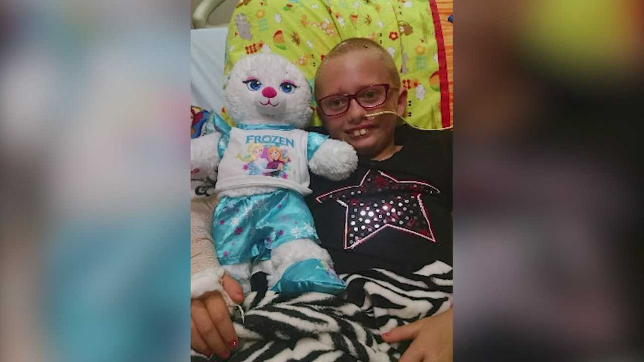 One girl is recovering from severe brain trauma, and her family members are rallying behind her.