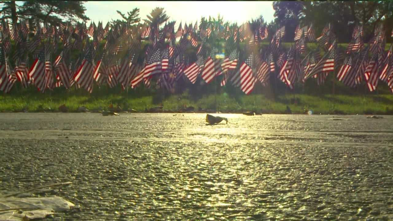 For the fourth year, the Air Force, iHeartMedia and Des Moines Parks and Recreation have created a moving memorial at Gray's Lake.