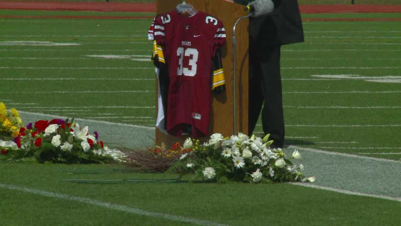 A memorial service for former Hawkeye player Tyler Sash was held in Oskaloosa Friday afternoon.